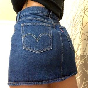 Levi jean skirt